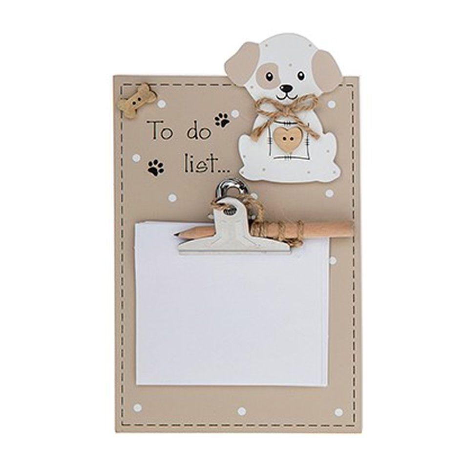 Dog Memo Pad Holder Plaque To Do