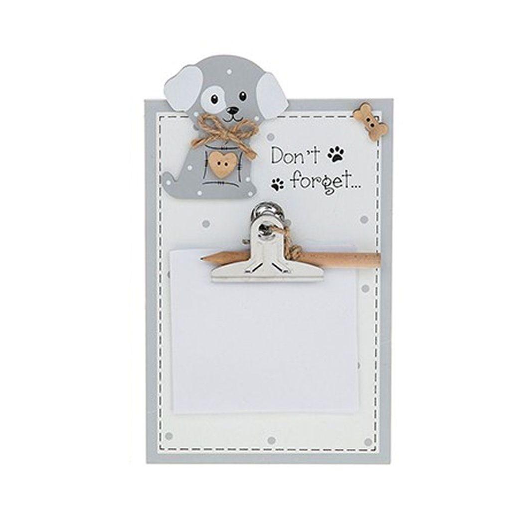 Dog Memo Pad Holder Plaque - Don't Forget
