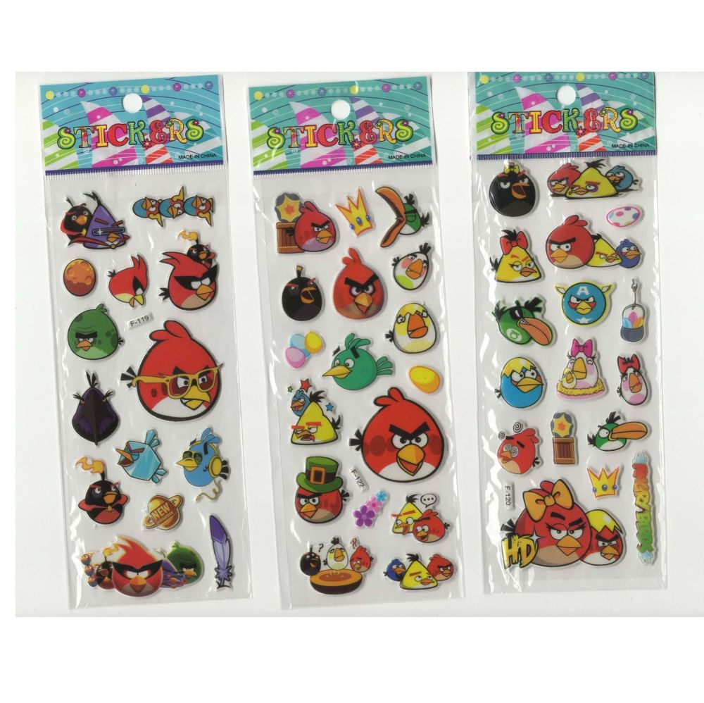 Angry Birds Stickers - Set of 3