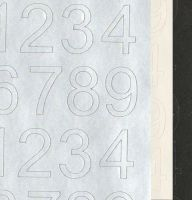 Numbers Peel Off Sticker Sheet
