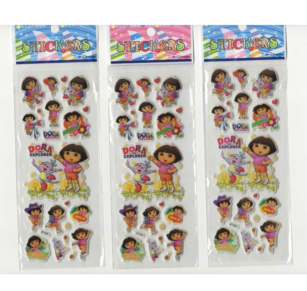 Dora The Explorer Stickers - Set of 3