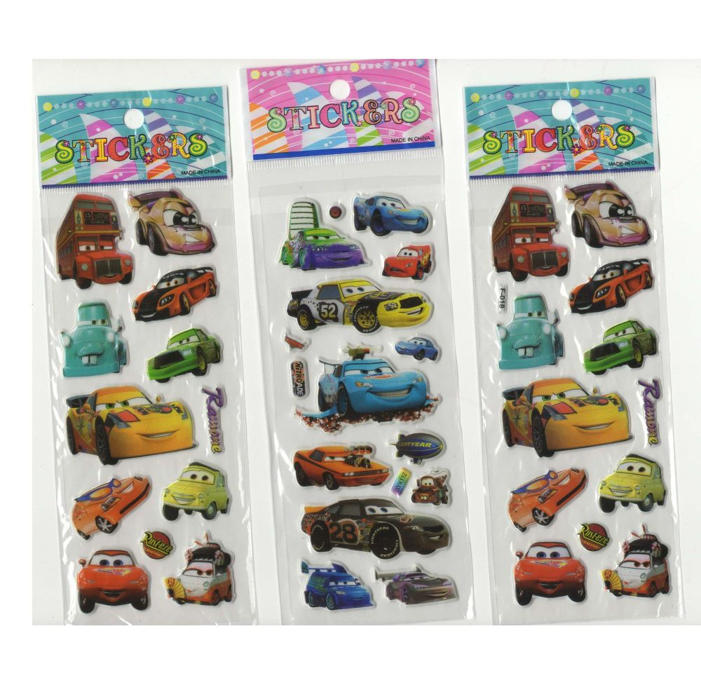 Cars Stickers - Set of 3