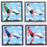 Football Players Cardmaking Craft Toppers