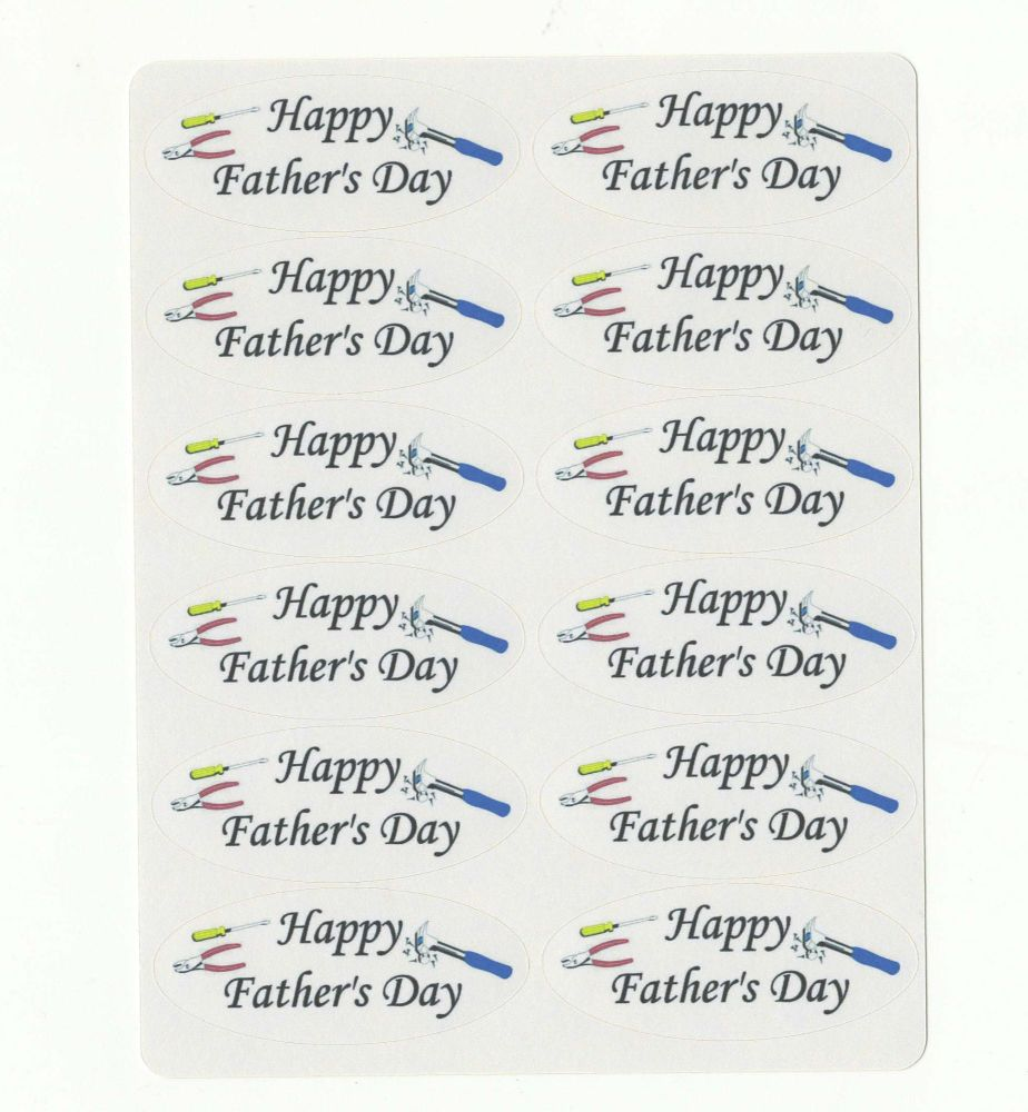 Happy Father's Day Sticker Sentiments for Card Making and Crafts