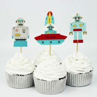Robots and Space Cupcake Fairy Cake Toppers