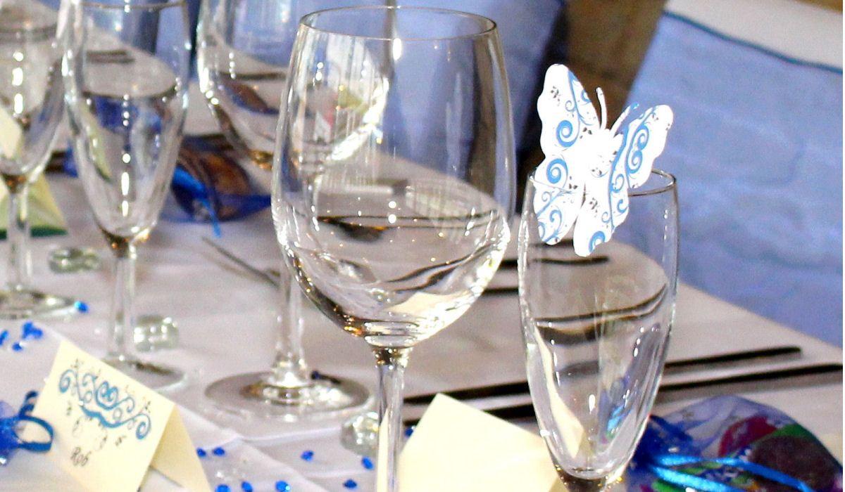 Butterfly embellishment on a wedding table.jpg