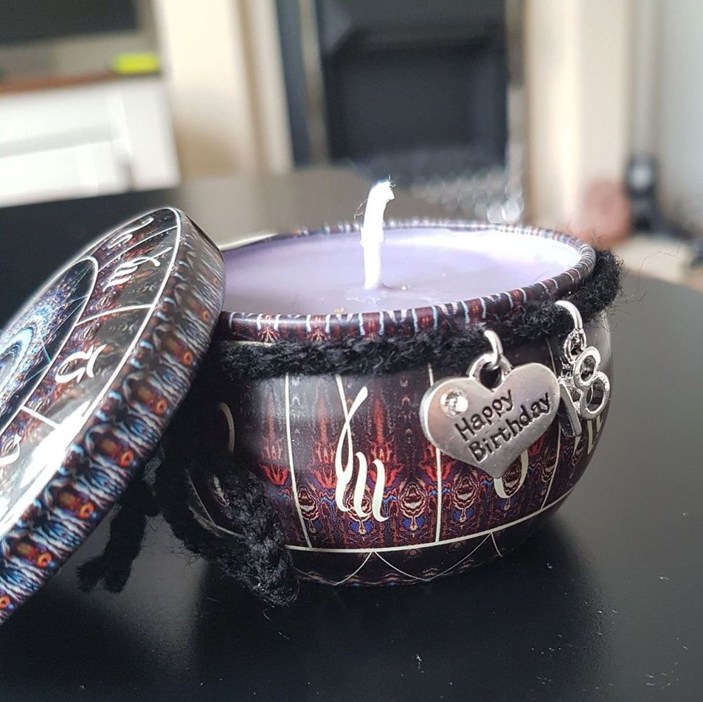 18th Birthday Scented Candle Tin