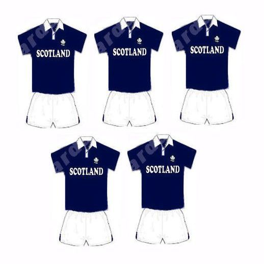 Rugby Card Making Toppers - Scottish Scotland Team.