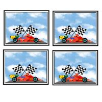 Racing Driver F1 Car Cardmaking Craft Toppers