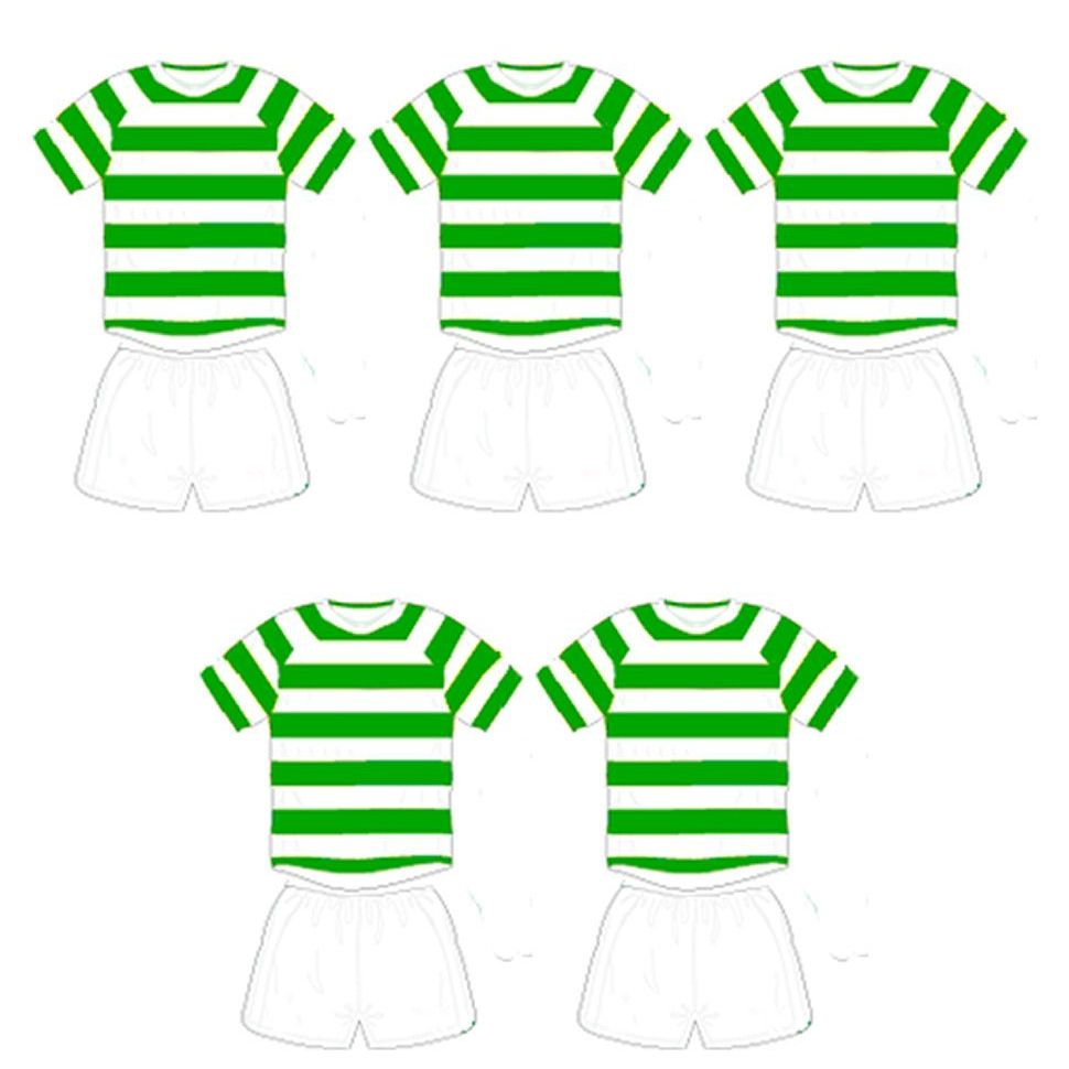 Football Card Making Toppers - Green and White Stripe Team