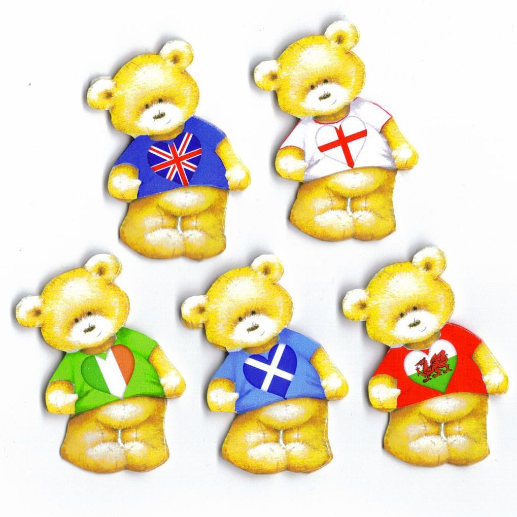 British Teddy Bear Card Toppers
