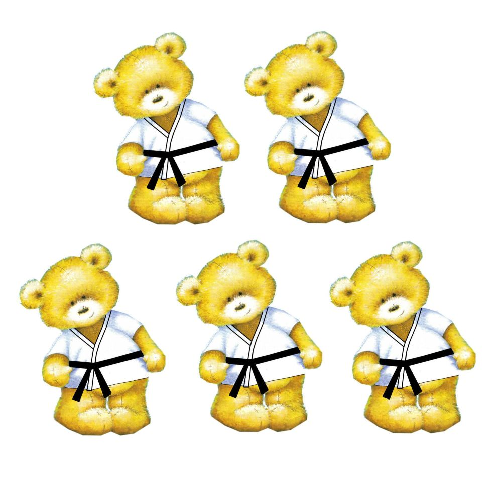 Karate Teddy Bear Card Toppers