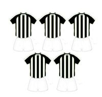 Football Card Making Toppers - Black and White Stripe Team