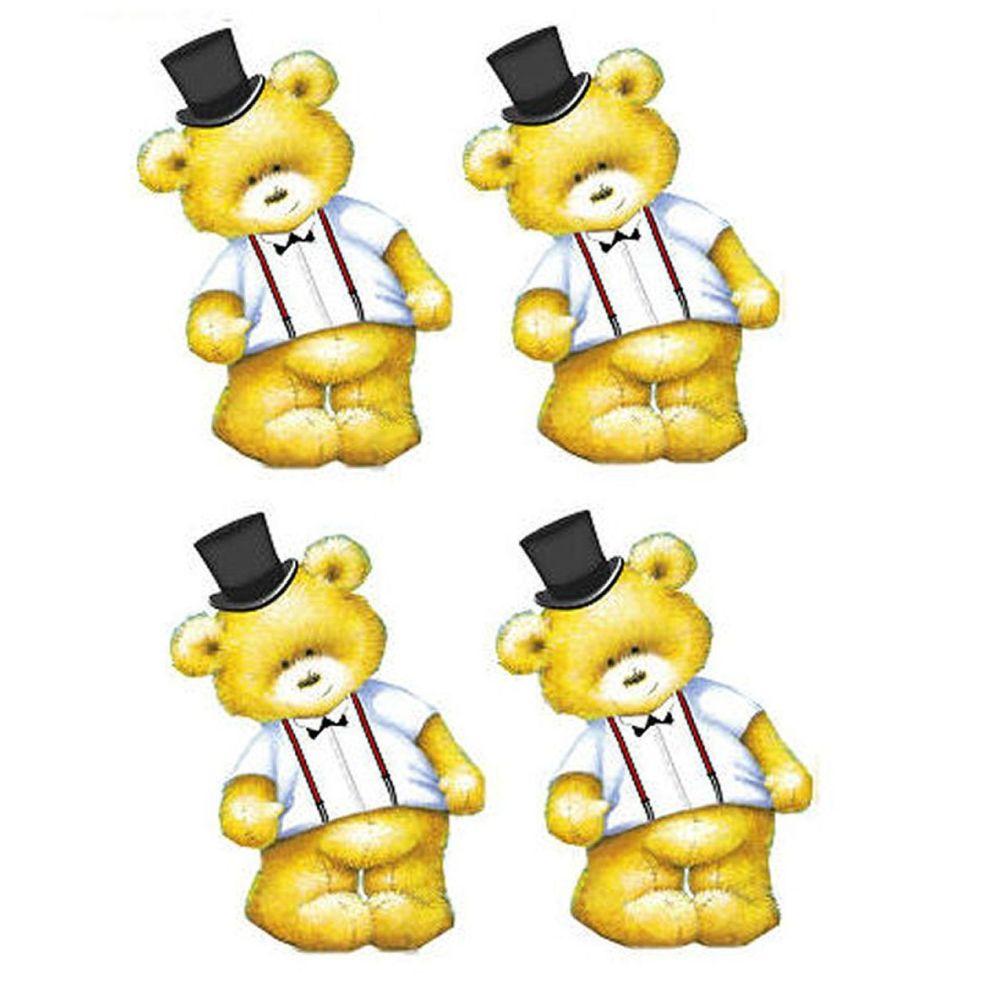 Groom Teddy Bear Toppers x 4