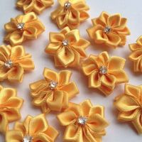 Gold Flower Embellishments with Gems