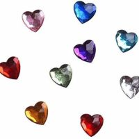 Gemstone Hearts Embellishments in Assorted Shades