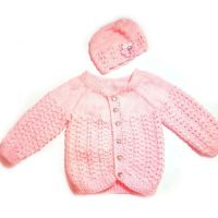 Baby Girl Set, Pink Coat and Hat, 0-3 Months