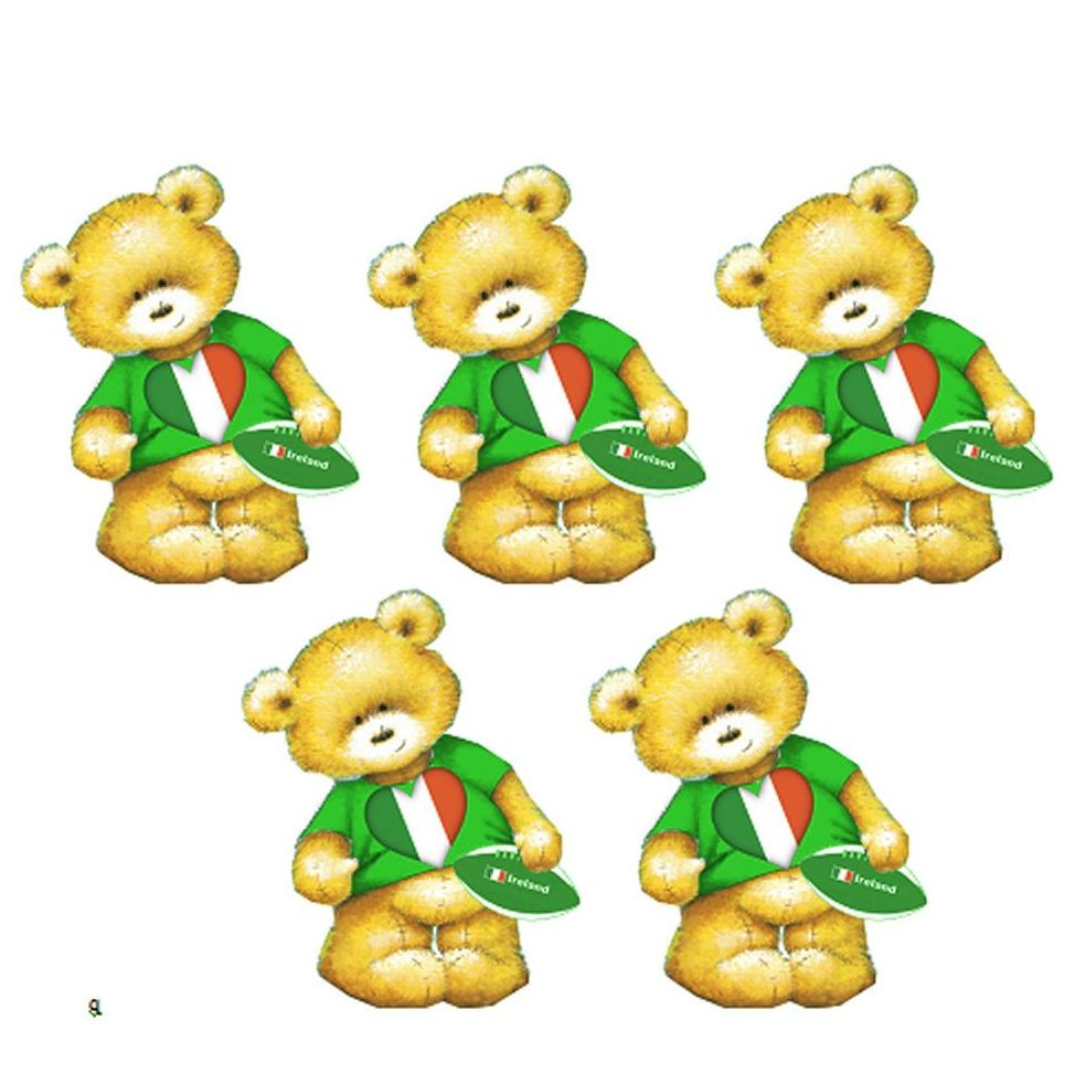 Ireland Rugby Teddy Bear Card Toppers