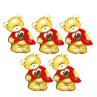 Welsh Rugby Teddy Bear Card Toppers