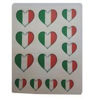 Ireland Flag Heart Sticker Sentiments for Card Making and Crafts