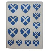Scotland Flag Heart Sticker Sentiments for Card Making and Crafts