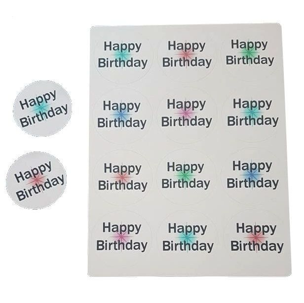 Happy Birthday Sticker Sentiments for Card Making and Crafts