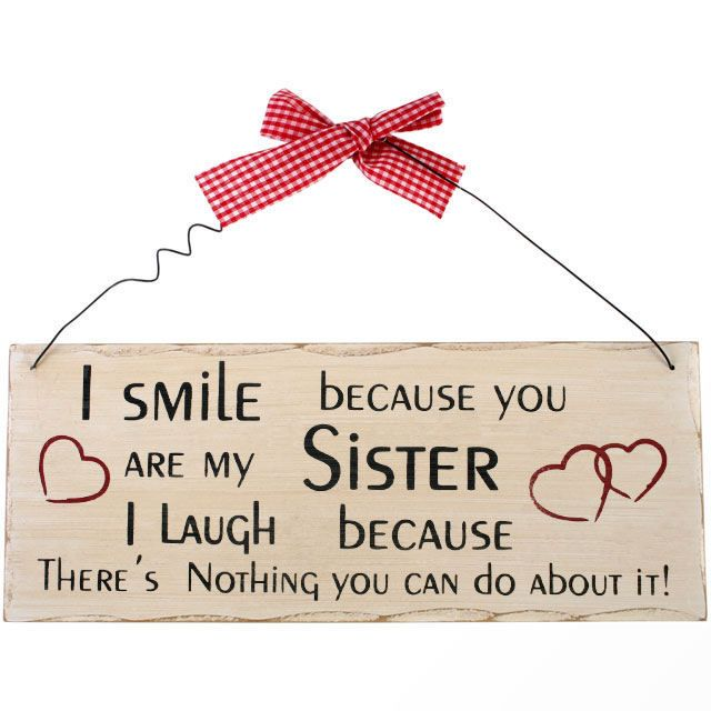 Sister Wooden Hanging Plaque
