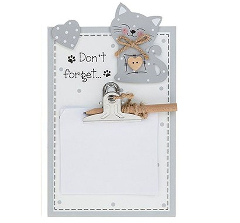Cat Memo Pad Holder Plaque - Don't Forget