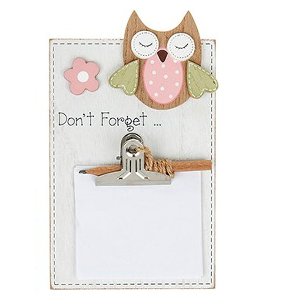 Owl Memo Pad Holder - Don't Forget