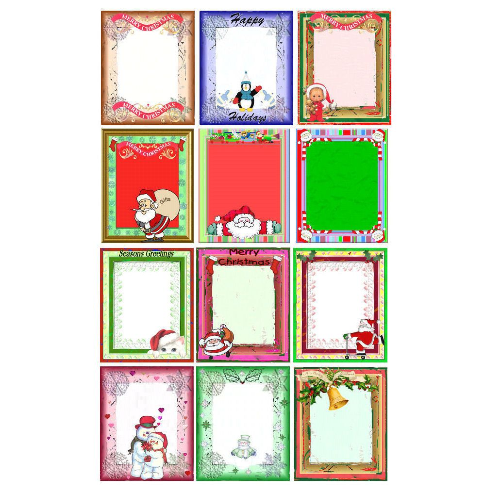 Christmas Colourful Paper Mount Embellishments
