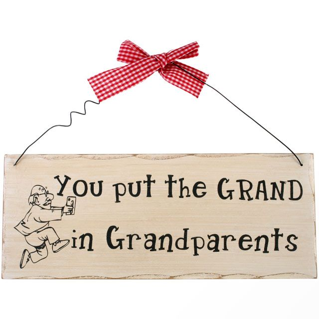 Grandparents Wooden Hanging Plaque