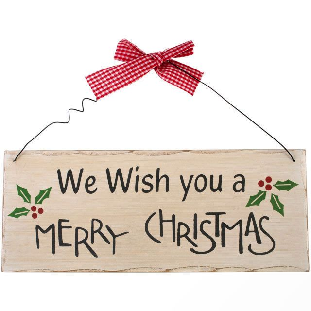 Christmas Plaque We Wish You A Merry Christmas