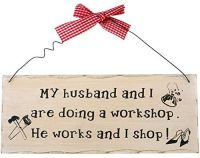 Husband and Wife Funny Wooden Hanging Plaque