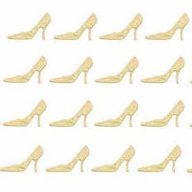 High Heels Stiletto Craft Embellishments - Cream x 20