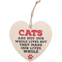 Cat Heart Plaque