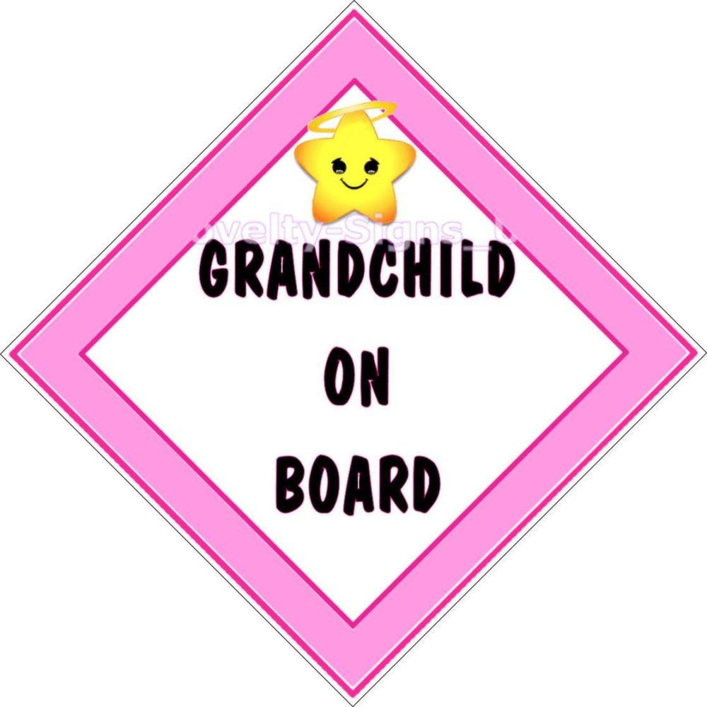 Car Sign - Grandchild on Board