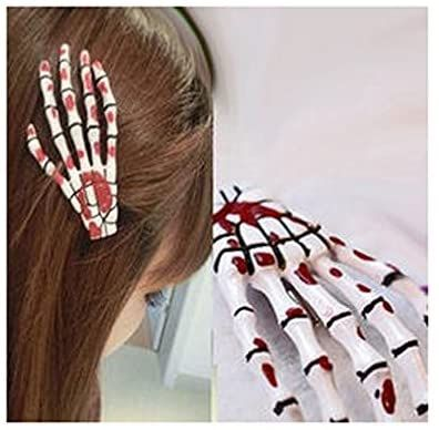 Skeleton Hand Hair Clip, Perfect for Halloween