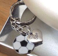 Son Keyring with Football Charm