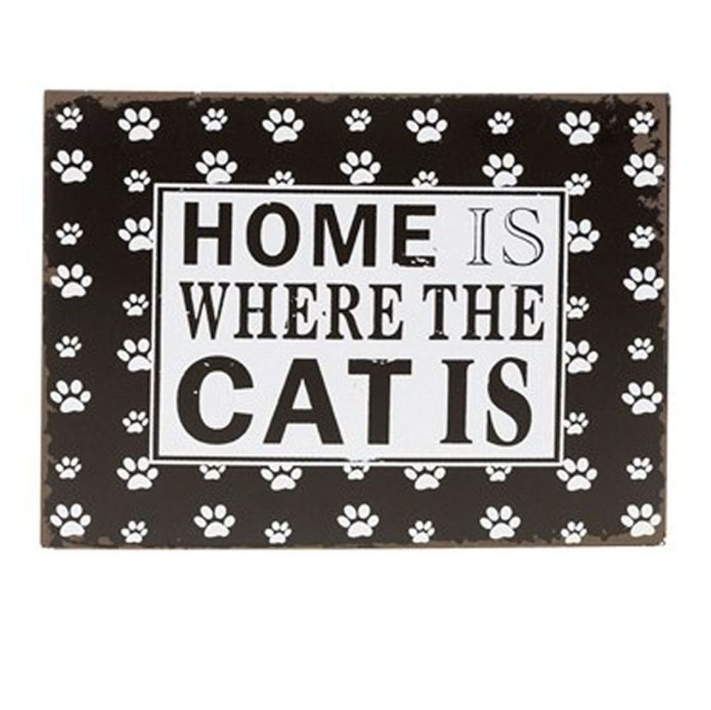 Cat Plaque Gift Cat Lover Gift - Home is Where the Cat is