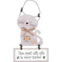 Cat Plaque - Time spent with cats is never wasted