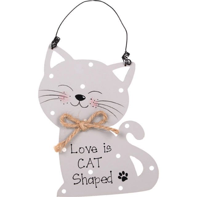 Cat Plaque with Fish Shape