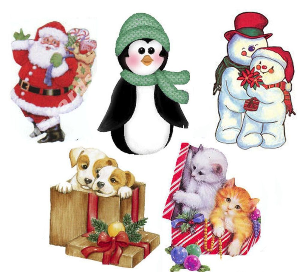 Christmas Character Card Making Toppers x 5