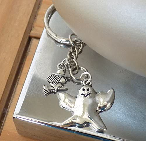 Halloween Witch and Ghost Keyring Keepsake Gift
