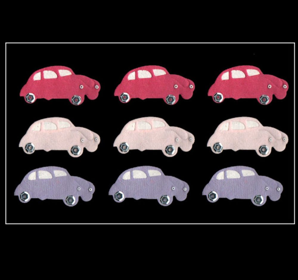 Beetle Car Style Craft Embellishments with Sequin Wheels