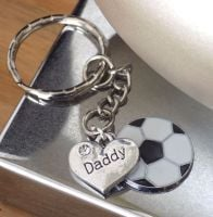 Daddy Keyring with Football Charm