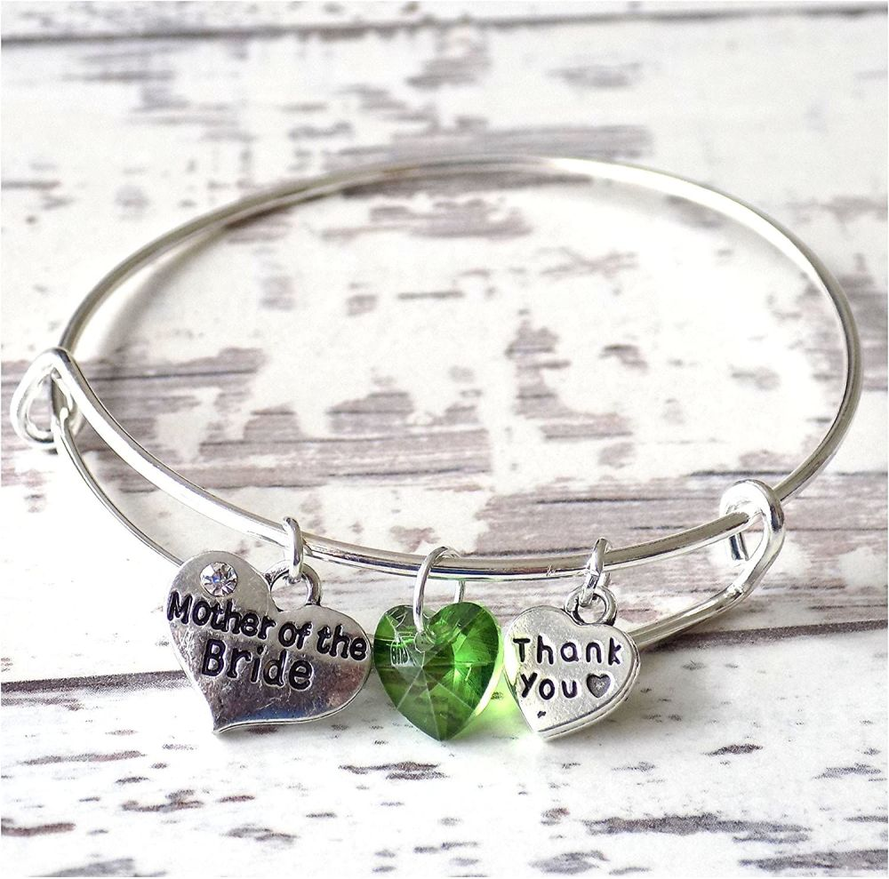 Mother of the Bride Charm Bracelet Thank You Wedding Gift