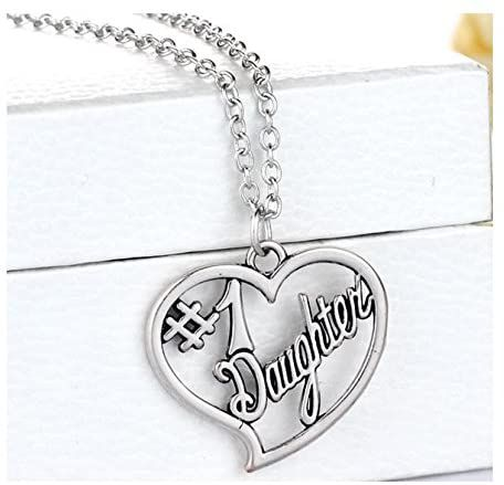 Daughter Pendant Necklace in Silver