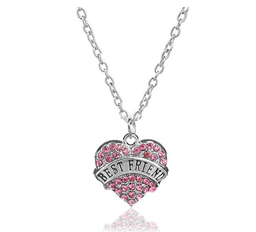 Best Friend Gemstone Heart Pendant Necklace