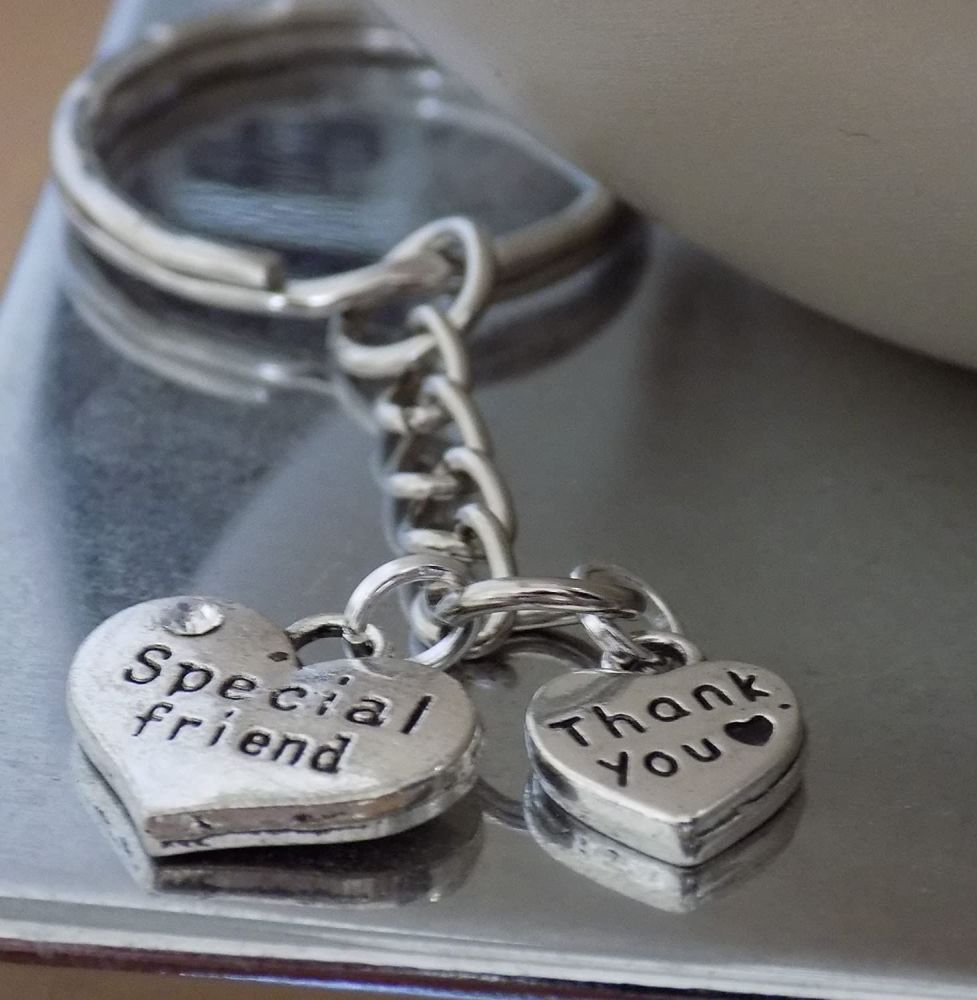 Special Friend Thank You Keyring