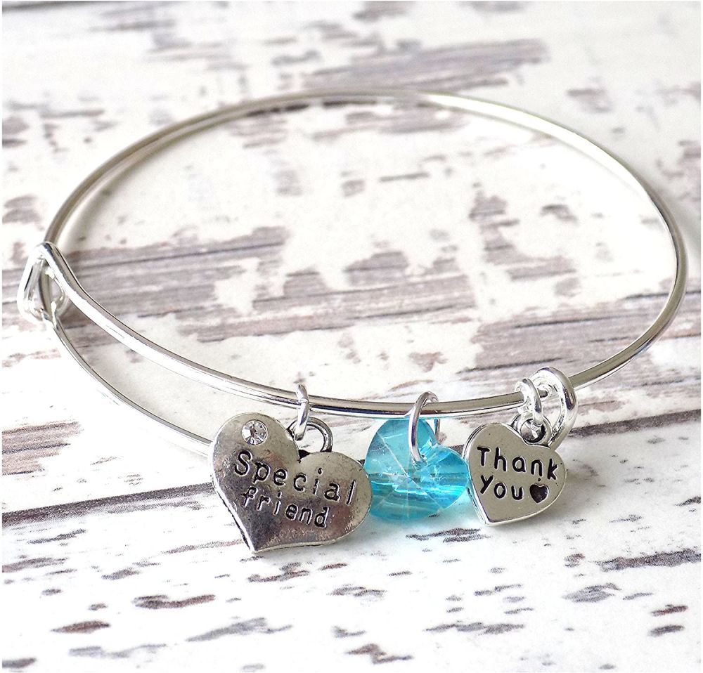 Special Friend Charm Bracelet Thank You Christening Gift